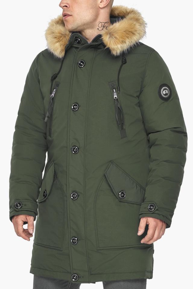 """Куртка – воздуховик модный мужской зимний цвет хаки модель 30118 Braggart """"Angel's Fluff Man"""" фото 10"""
