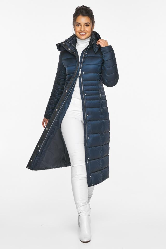 """Сапфировая куртка зимняя женская удобная модель 43575 Braggart """"Angel's Fluff"""" фото 3"""
