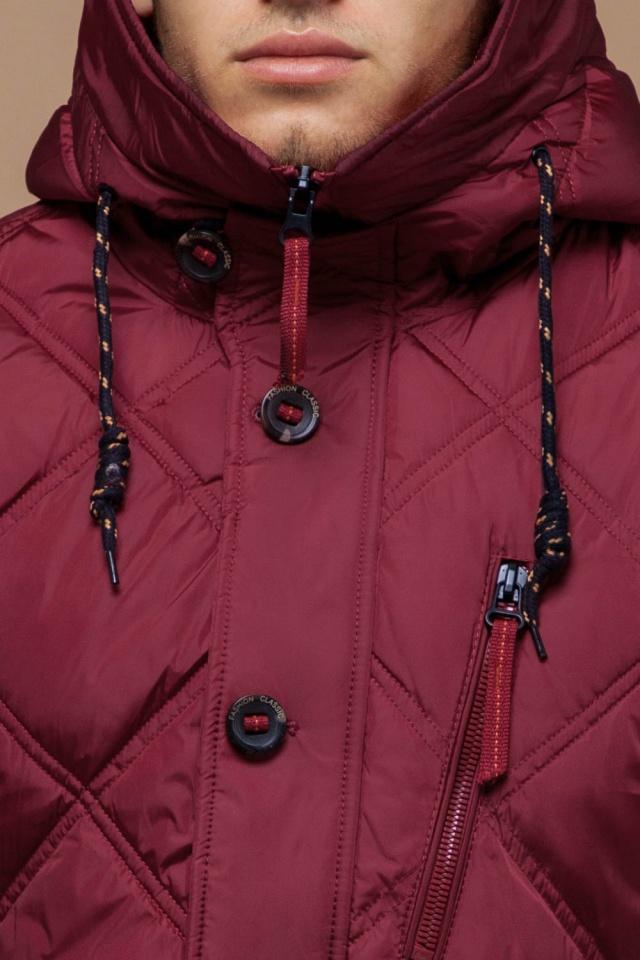 "Стёганая мужская куртка зимняя красная модель 12481 Braggart ""Dress Code"" фото 6"