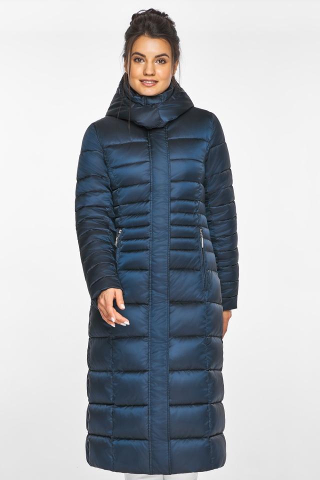 """Сапфировая куртка зимняя женская удобная модель 43575 Braggart """"Angel's Fluff"""" фото 4"""