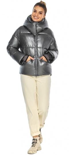 """Женская куртка трендовая цвет тёмное серебро модель 41975 Braggart """"Angel's Fluff"""" фото 1"""