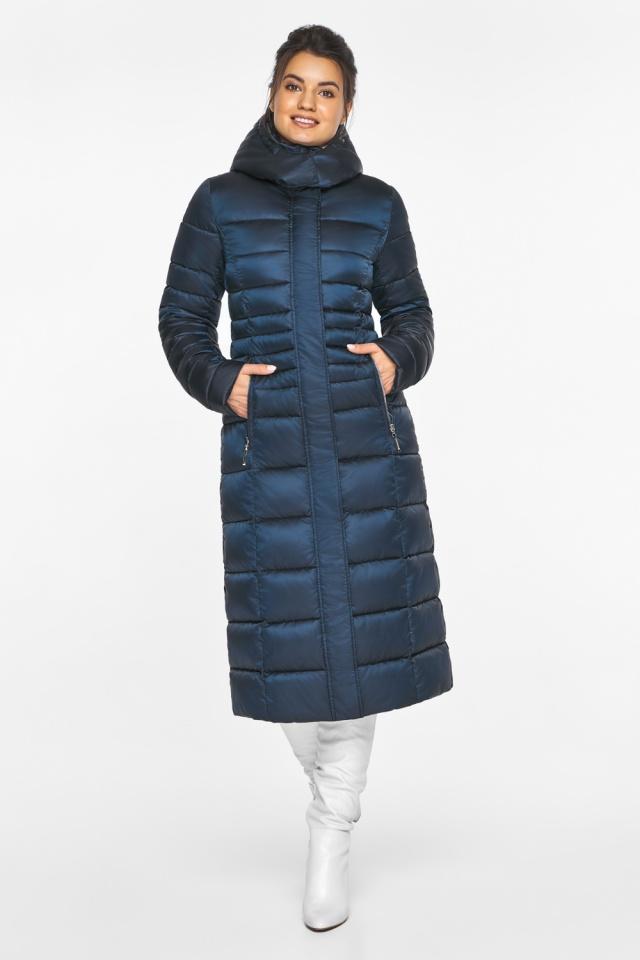 """Сапфировая куртка зимняя женская удобная модель 43575 Braggart """"Angel's Fluff"""" фото 2"""