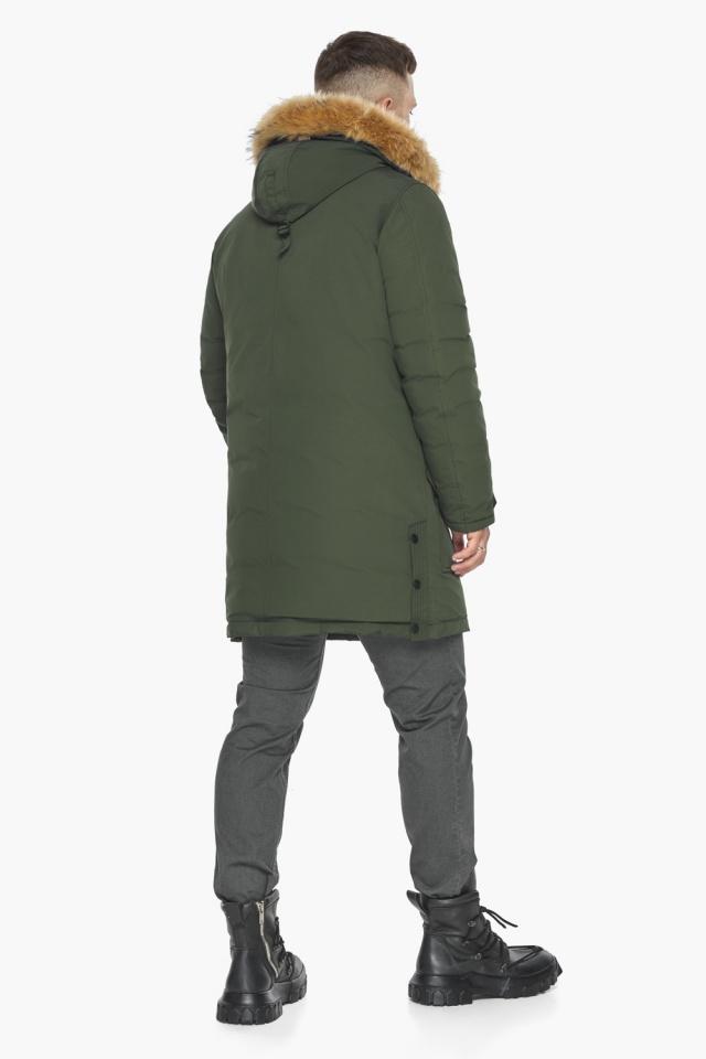 """Куртка – воздуховик модный мужской зимний цвет хаки модель 30118 Braggart """"Angel's Fluff Man"""" фото 9"""
