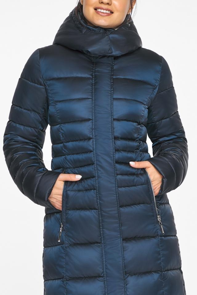 Сапфировая куртка зимняя женская удобного фасона модель 43575
