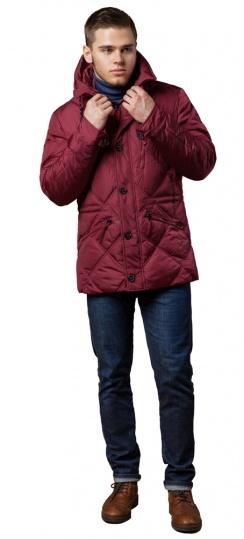 "Стёганая мужская куртка зимняя красная модель 12481 Braggart ""Dress Code"" фото 1"