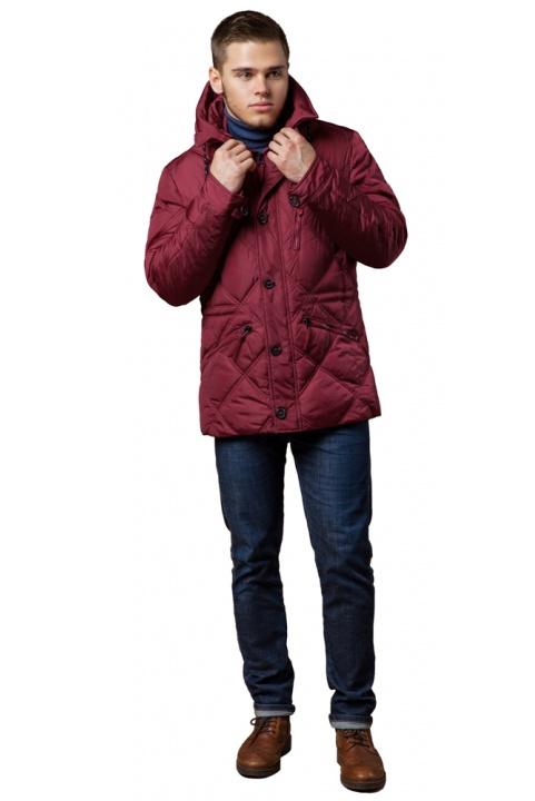 """Стьобана чоловіча куртка зимова червона модель 12481 Braggart """"Dress Code"""" фото 1"""