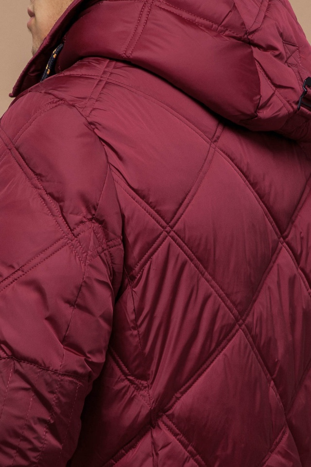 Красная зимняя куртка для мужчин модель 12481