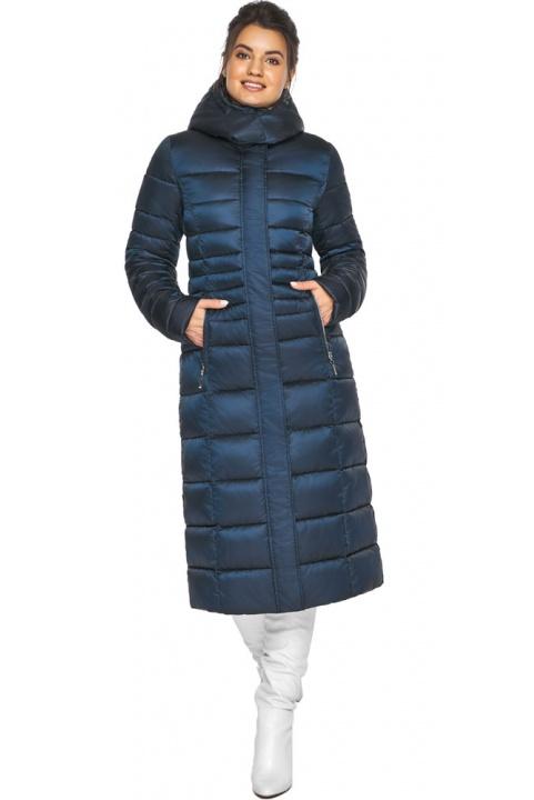 """Сапфірова куртка зимова жіноча зручна модель 43575 Braggart """"Angel's Fluff"""" фото 1"""