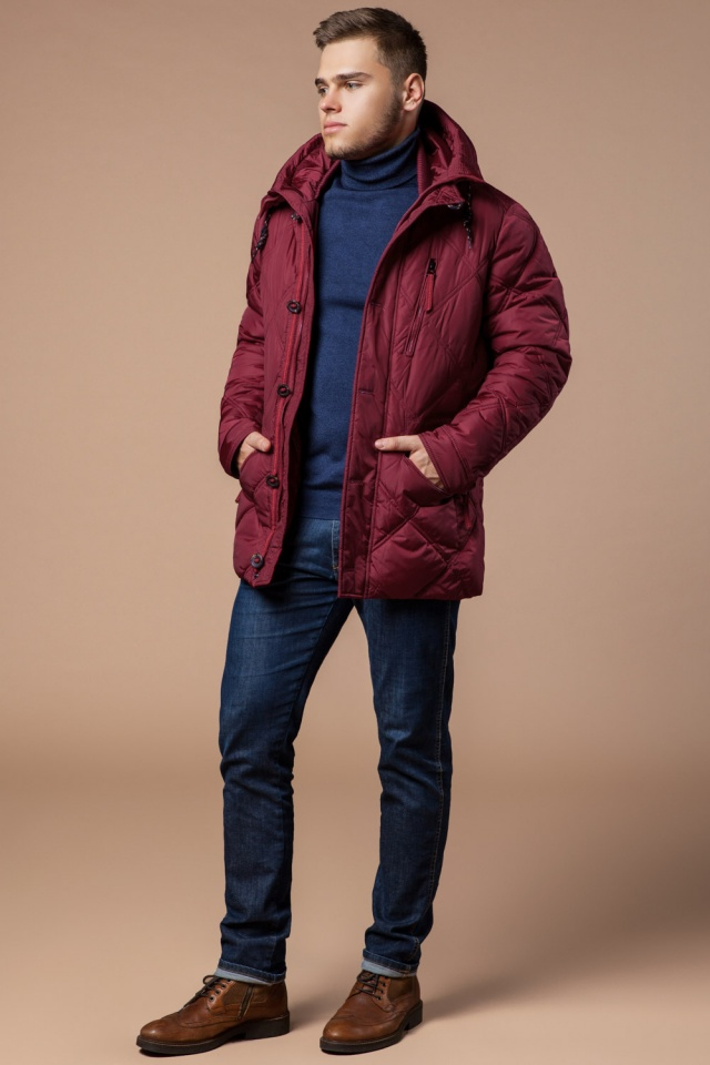"Стёганая мужская куртка зимняя красная модель 12481 Braggart ""Dress Code"" фото 3"