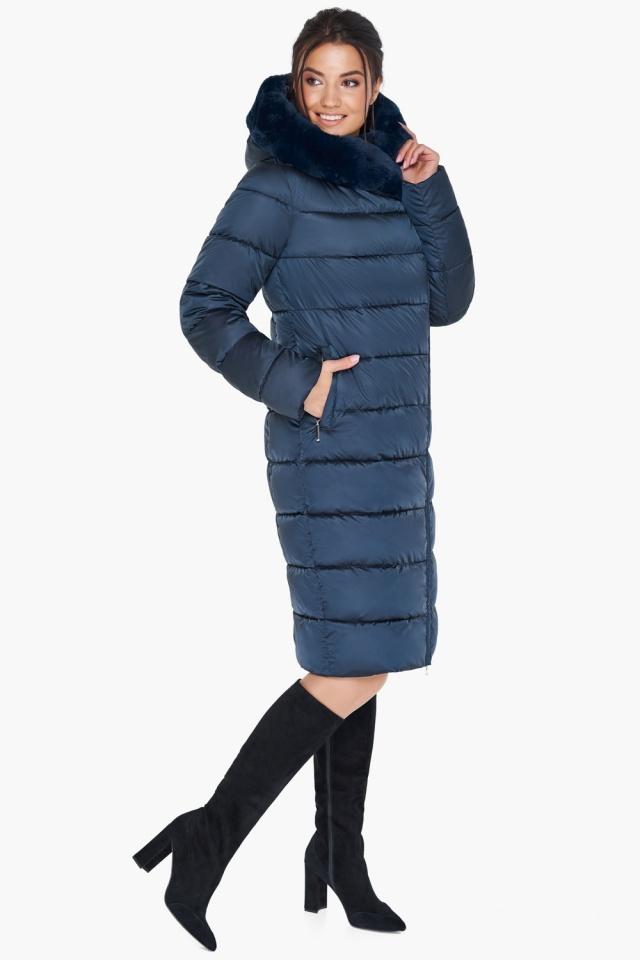 """Женская куртка сапфировая оригинальная модель 31049 Braggart """"Angel's Fluff"""" фото 6"""