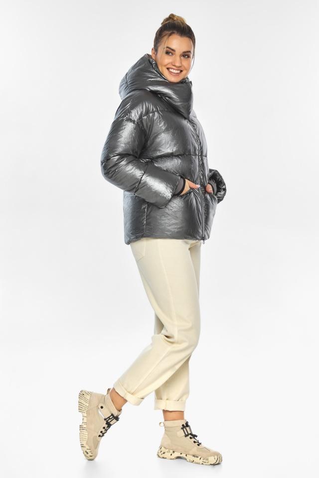 """Женская куртка трендовая цвет тёмное серебро модель 41975 Braggart """"Angel's Fluff"""" фото 7"""
