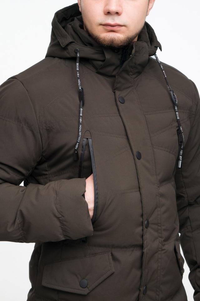 """Практичная мужская кофейная куртка на зиму модель 25320 Braggart """"Youth"""" фото 8"""