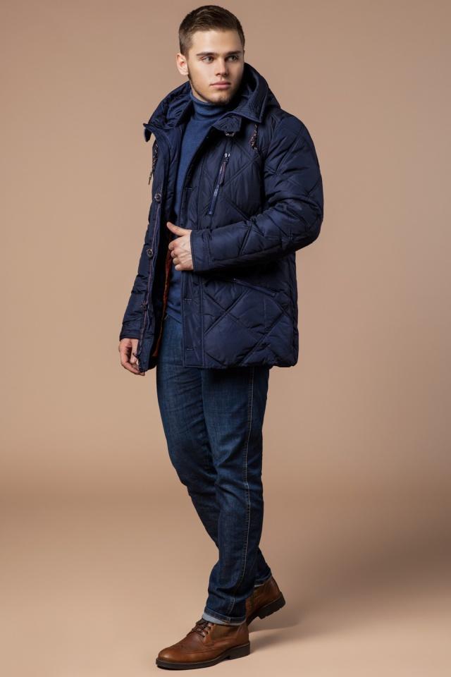 """Теплая зимняя курточка мужская тёмно-синяя модель 12481 Braggart """"Dress Code"""" фото 2"""