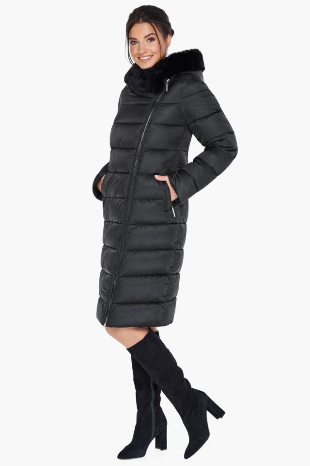 """Женская практичная куртка чёрного цвета модель 31049 Braggart """"Angel's Fluff"""" фото 5"""