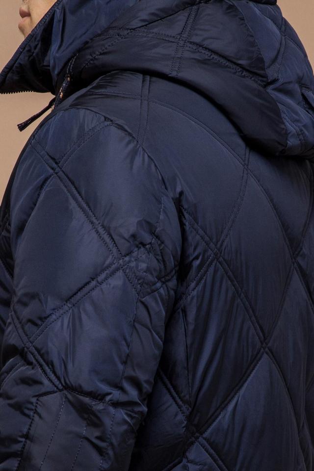 """Теплая зимняя курточка мужская тёмно-синяя модель 12481 Braggart """"Dress Code"""" фото 8"""