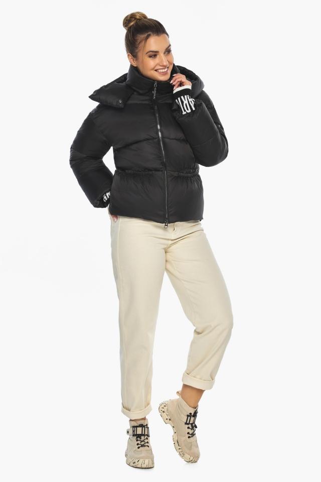 """Куртка с брендовой фурнитурой чёрная женская модель 41975 Braggart """"Angel's Fluff"""" фото 6"""