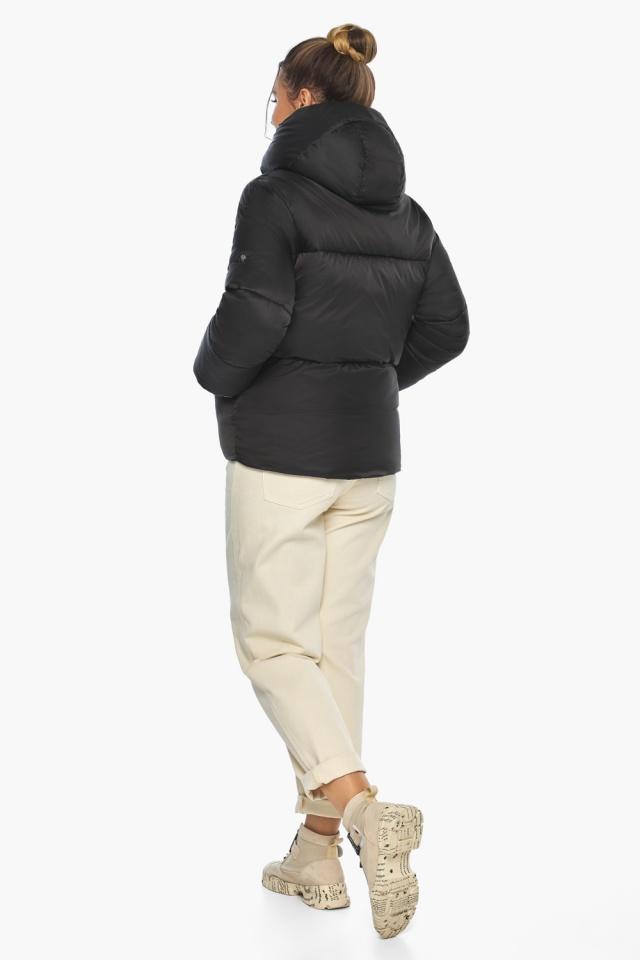 """Куртка с брендовой фурнитурой чёрная женская модель 41975 Braggart """"Angel's Fluff"""" фото 7"""