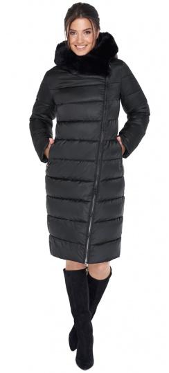 """Женская практичная куртка чёрного цвета модель 31049 Braggart """"Angel's Fluff"""" фото 1"""