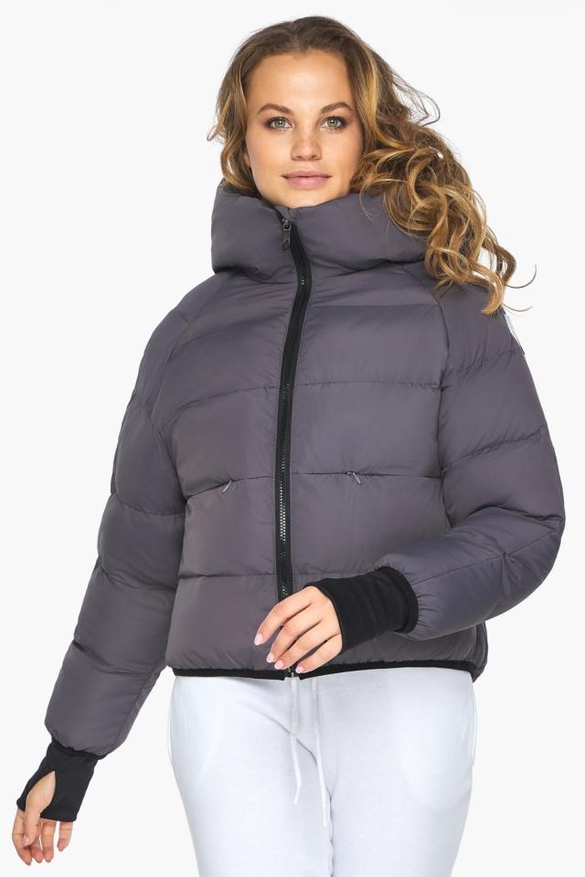 Элегантная графитовая куртка-сфера из тончайшей гладкой ткани модель 26420 Youth фото 4