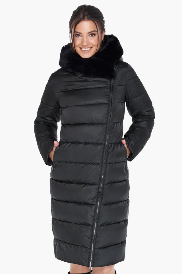 """Женская практичная куртка чёрного цвета модель 31049 Braggart """"Angel's Fluff"""" фото 4"""