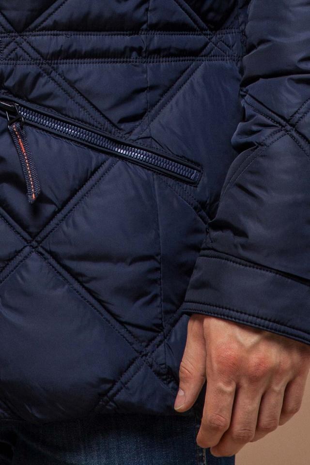 """Теплая зимняя курточка мужская тёмно-синяя модель 12481 Braggart """"Dress Code"""" фото 7"""