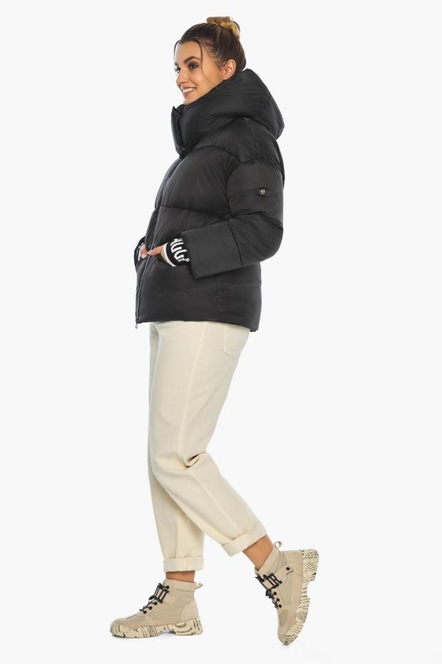 """Куртка с брендовой фурнитурой чёрная женская модель 41975 Braggart """"Angel's Fluff"""" фото 5"""