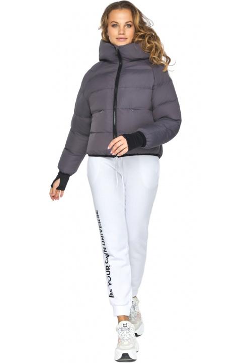 Елегантна графітова куртка-сфера з найтоншої гладкої тканини модель 26420 Youth фото 1