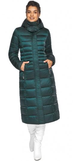 """Изумрудная куртка женская на зиму с прорезными карманами модель 43575 Braggart """"Angel's Fluff"""" фото 1"""