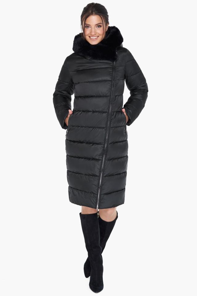 """Женская практичная куртка чёрного цвета модель 31049 Braggart """"Angel's Fluff"""" фото 2"""