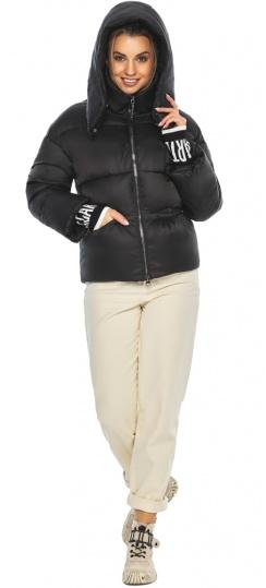 """Куртка с брендовой фурнитурой чёрная женская модель 41975 Braggart """"Angel's Fluff"""" фото 1"""