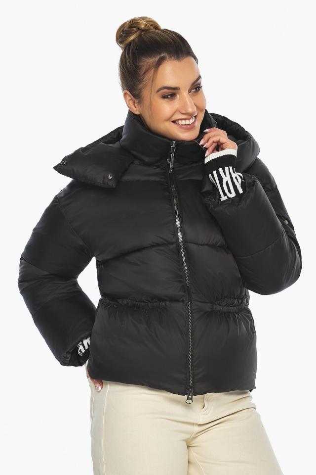 """Куртка с брендовой фурнитурой чёрная женская модель 41975 Braggart """"Angel's Fluff"""" фото 3"""