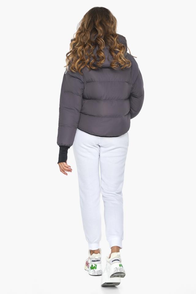 Элегантная графитовая куртка-сфера из тончайшей гладкой ткани модель 26420 Youth фото 5