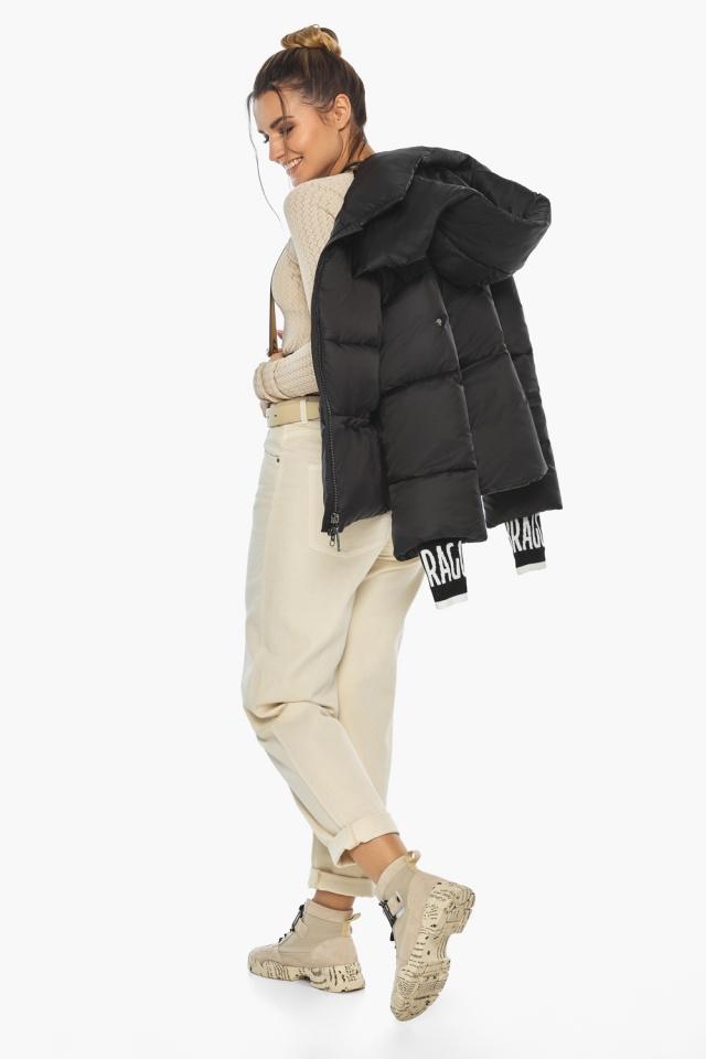 """Куртка с брендовой фурнитурой чёрная женская модель 41975 Braggart """"Angel's Fluff"""" фото 4"""