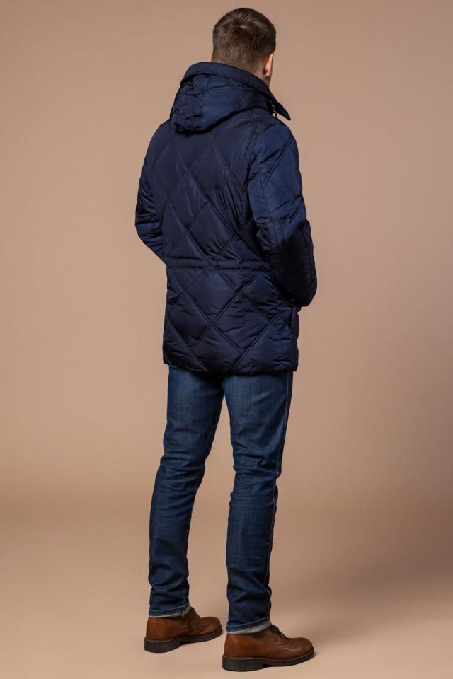 """Теплая зимняя курточка мужская тёмно-синяя модель 12481 Braggart """"Dress Code"""" фото 5"""