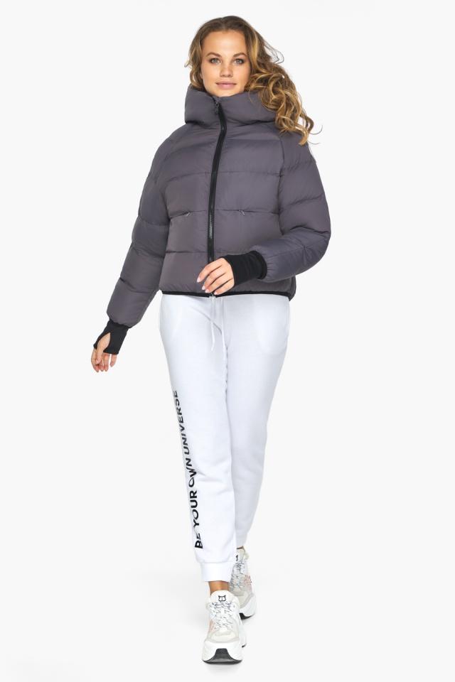Элегантная графитовая куртка-сфера из тончайшей гладкой ткани модель 26420 Youth фото 2
