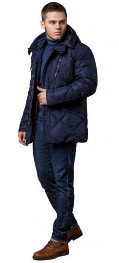 """Зимняя темно-синяя куртка с пуговицами мужская модель 12481 Braggart """"Dress Code"""" фото 1"""