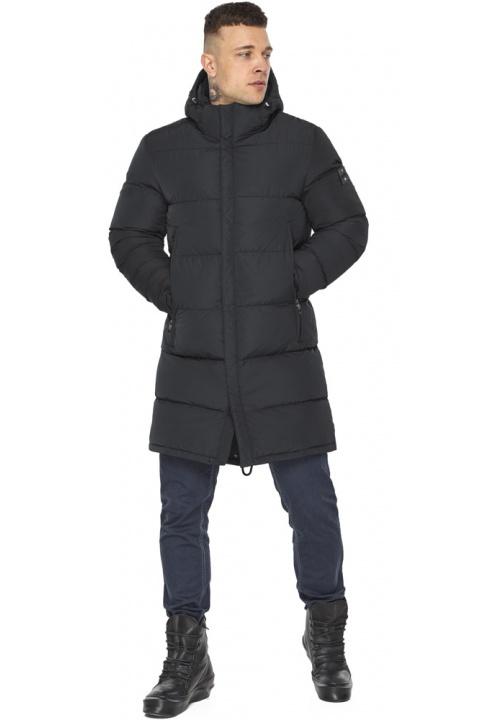 """Чоловіча куртка на блискавці графітово-синя зимова модель 49438 Braggart """"Dress Code"""" фото 1"""