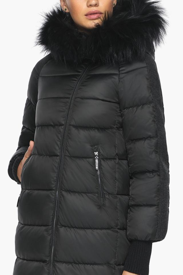 """Куртка на змейке женская черная модель 42150 Braggart """"Angel's Fluff"""" фото 8"""