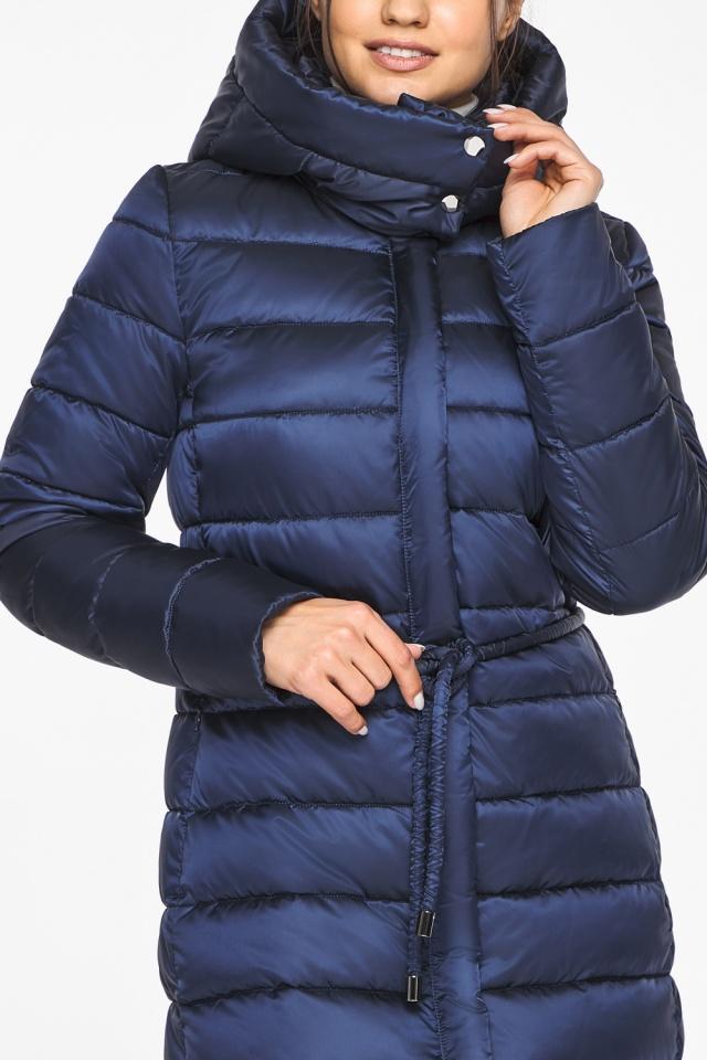 Женская куртка зимняя цвет синий бархат модель 44860