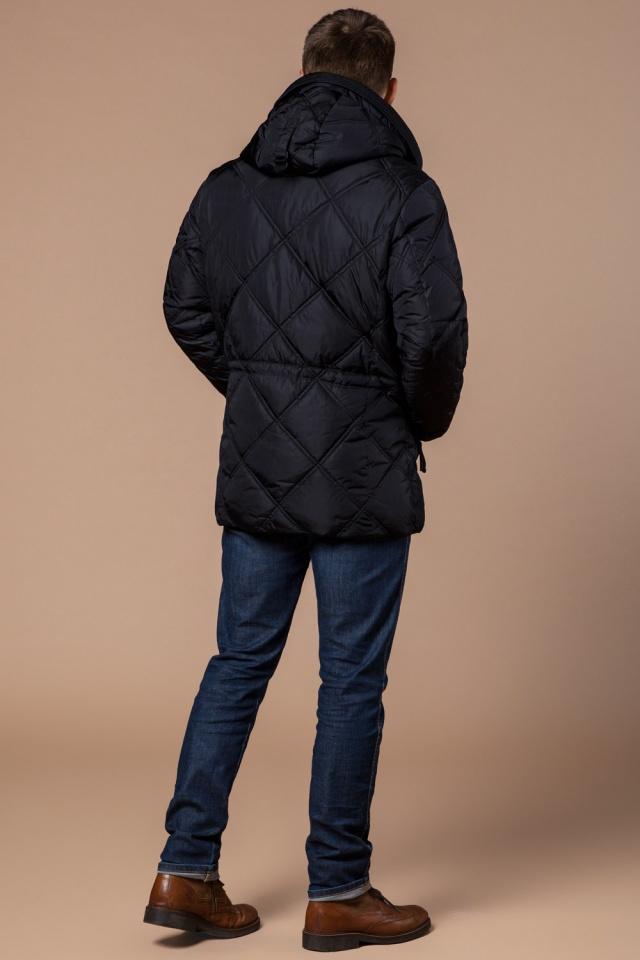 """Современная мужская зимняя курточка чёрная модель 12481 Braggart """"Dress Code"""" фото 5"""
