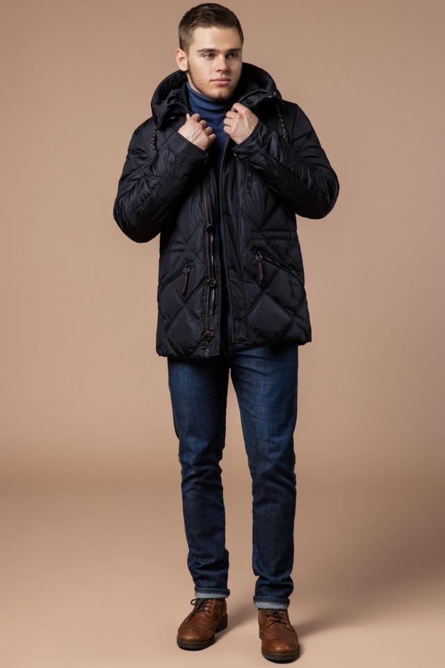"""Современная мужская зимняя курточка чёрная модель 12481 Braggart """"Dress Code"""" фото 3"""