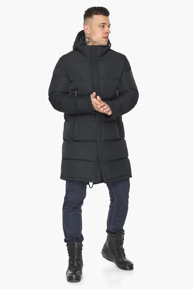 """Мужская куртка на молнии графитово-синяя зимняя модель 49438 Braggart """"Dress Code"""" фото 3"""