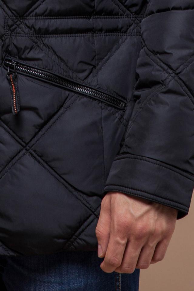 """Современная мужская зимняя курточка чёрная модель 12481 Braggart """"Dress Code"""" фото 7"""