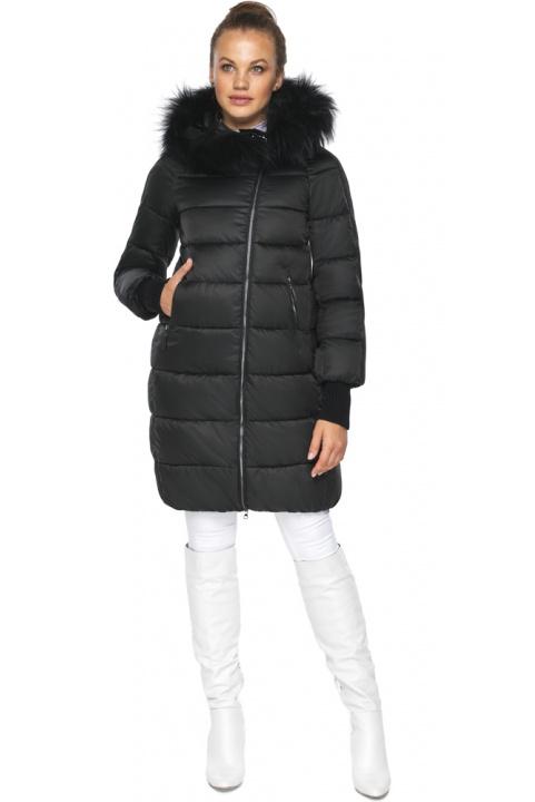 """Куртка на змійці жіноча чорна модель 42150 Braggart """"Angel's Fluff"""" фото 1"""