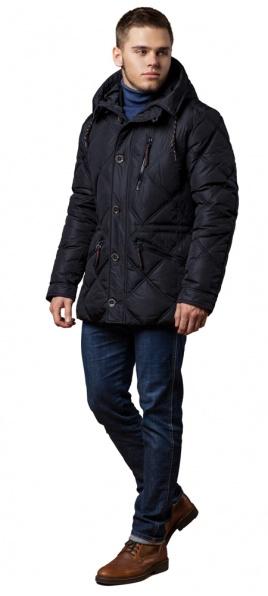"""Сучасна чоловіча зимова куртка чорна модель 12481 Braggart """"Dress Code"""" фото 1"""