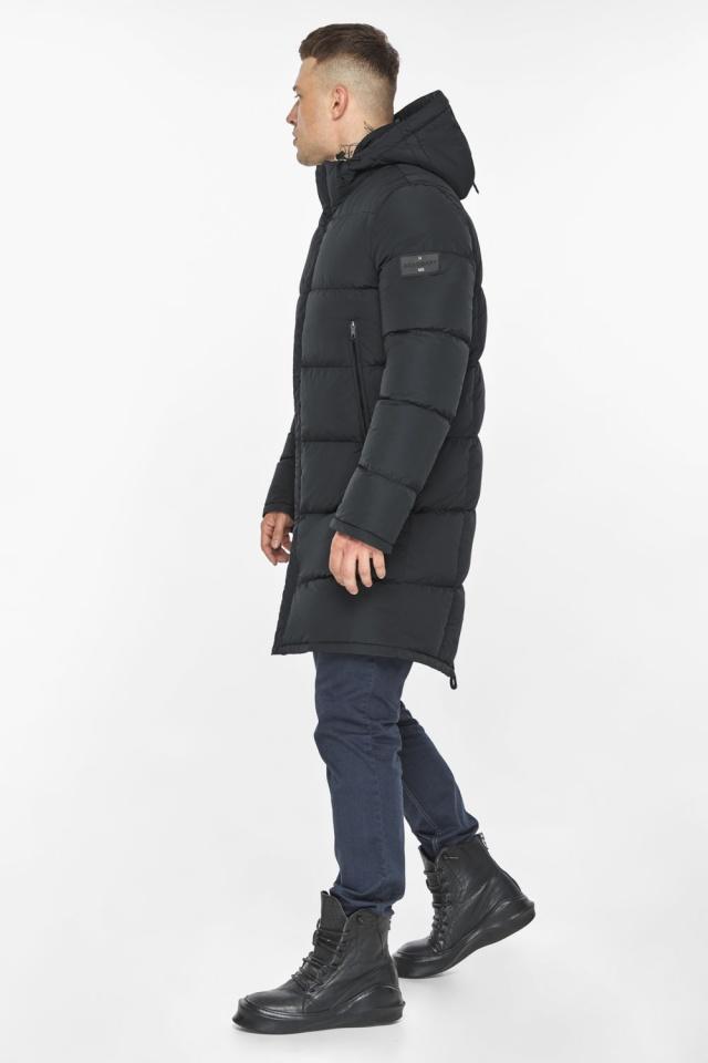 """Мужская куртка на молнии графитово-синяя зимняя модель 49438 Braggart """"Dress Code"""" фото 9"""