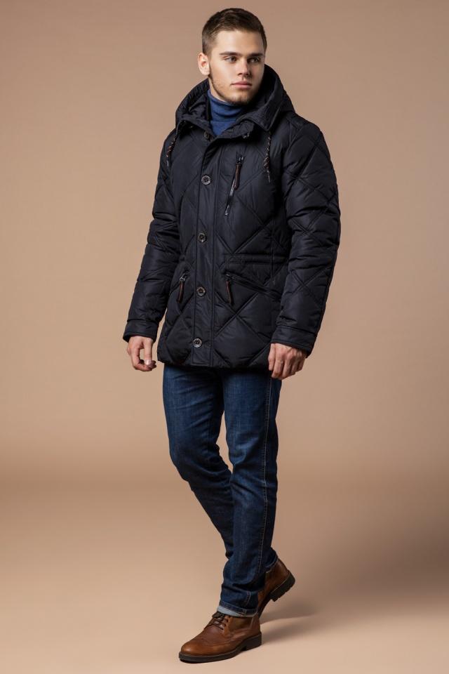 """Современная мужская зимняя курточка чёрная модель 12481 Braggart """"Dress Code"""" фото 2"""