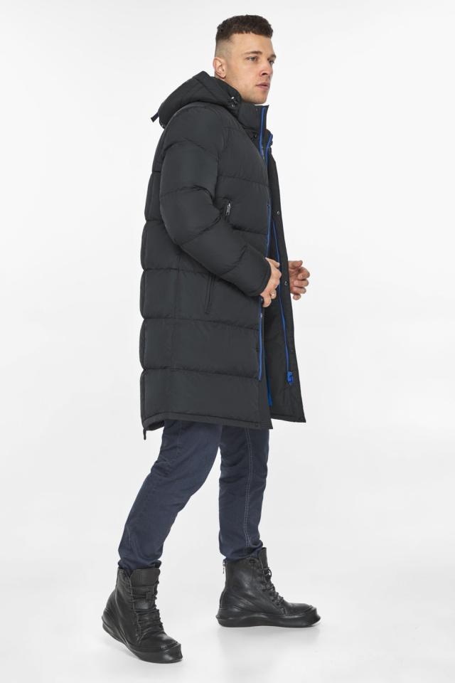 """Мужская куртка на молнии графитово-синяя зимняя модель 49438 Braggart """"Dress Code"""" фото 7"""