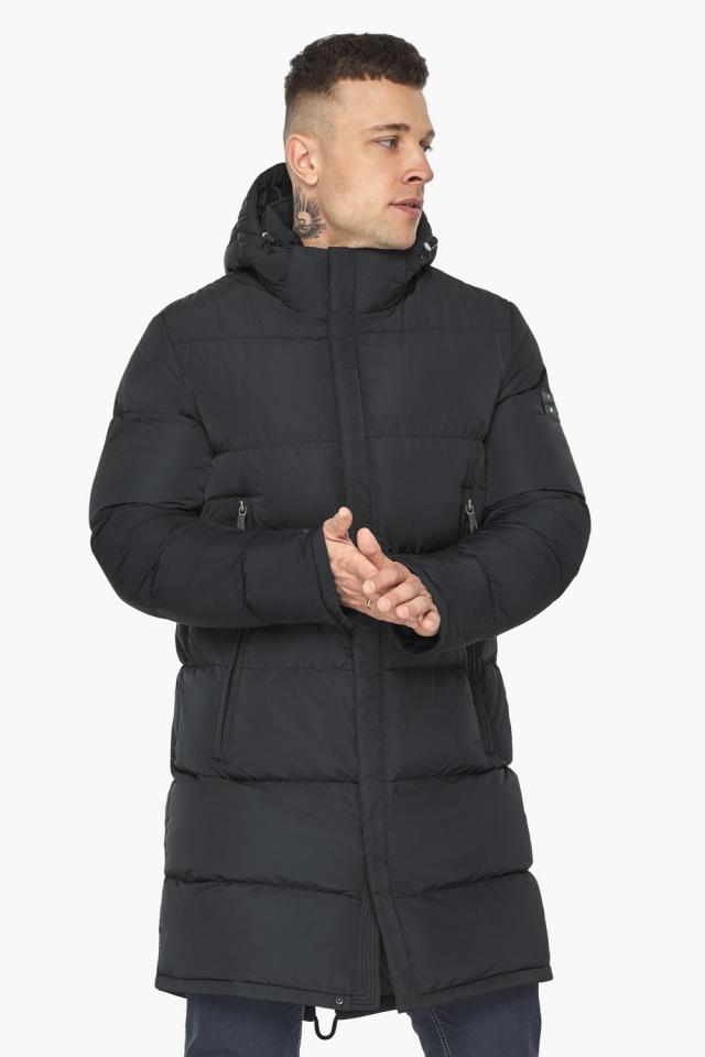 """Мужская куртка на молнии графитово-синяя зимняя модель 49438 Braggart """"Dress Code"""" фото 5"""