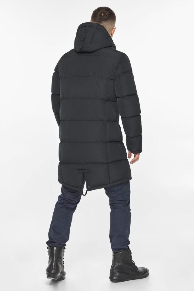 """Мужская куртка на молнии графитово-синяя зимняя модель 49438 Braggart """"Dress Code"""" фото 10"""